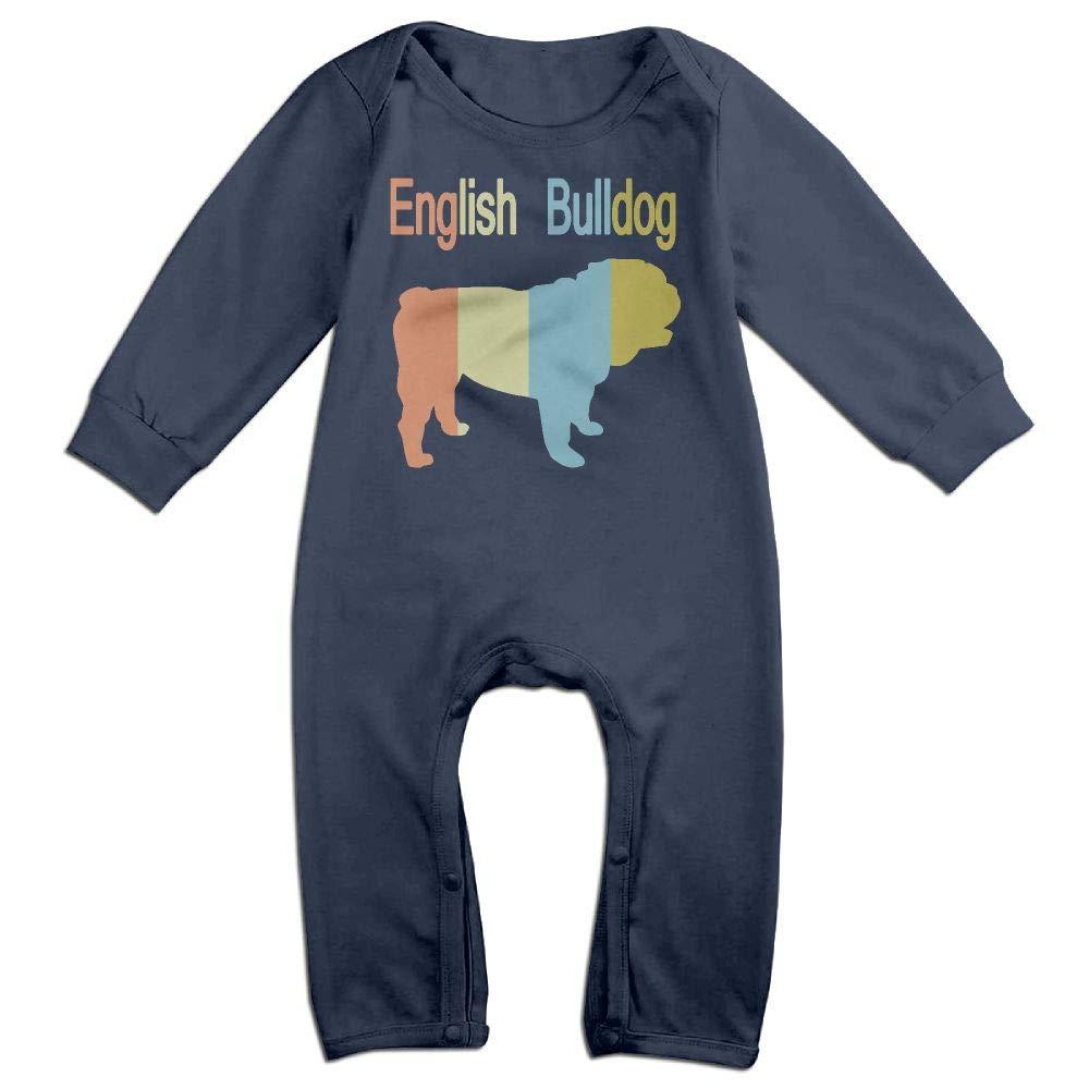 Mri-le1 Toddler Baby Boy Girl Bodysuits English Bulldog Vintage Baby Clothes