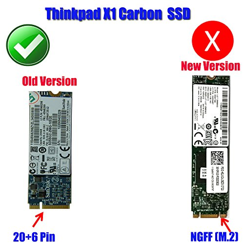 Carbon 20+6 Pin SSD to SATA 2.5 Adapter Converter for Thinkpad Lenovo X1 by JIUWU (Image #2)