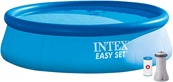 Intex 28132NP Piscina hinchable, con depuradora, 5.621 litros, 366 ...