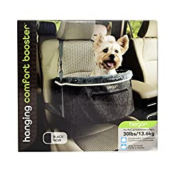 Bergan Hanging Car Booster for Small Breeds, Black