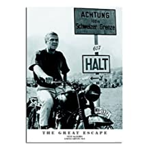 The Great Escape Steve Mcqueen Poster Satin Matt Laminated - 91.5 x 61cms (36 x 24 Inches)