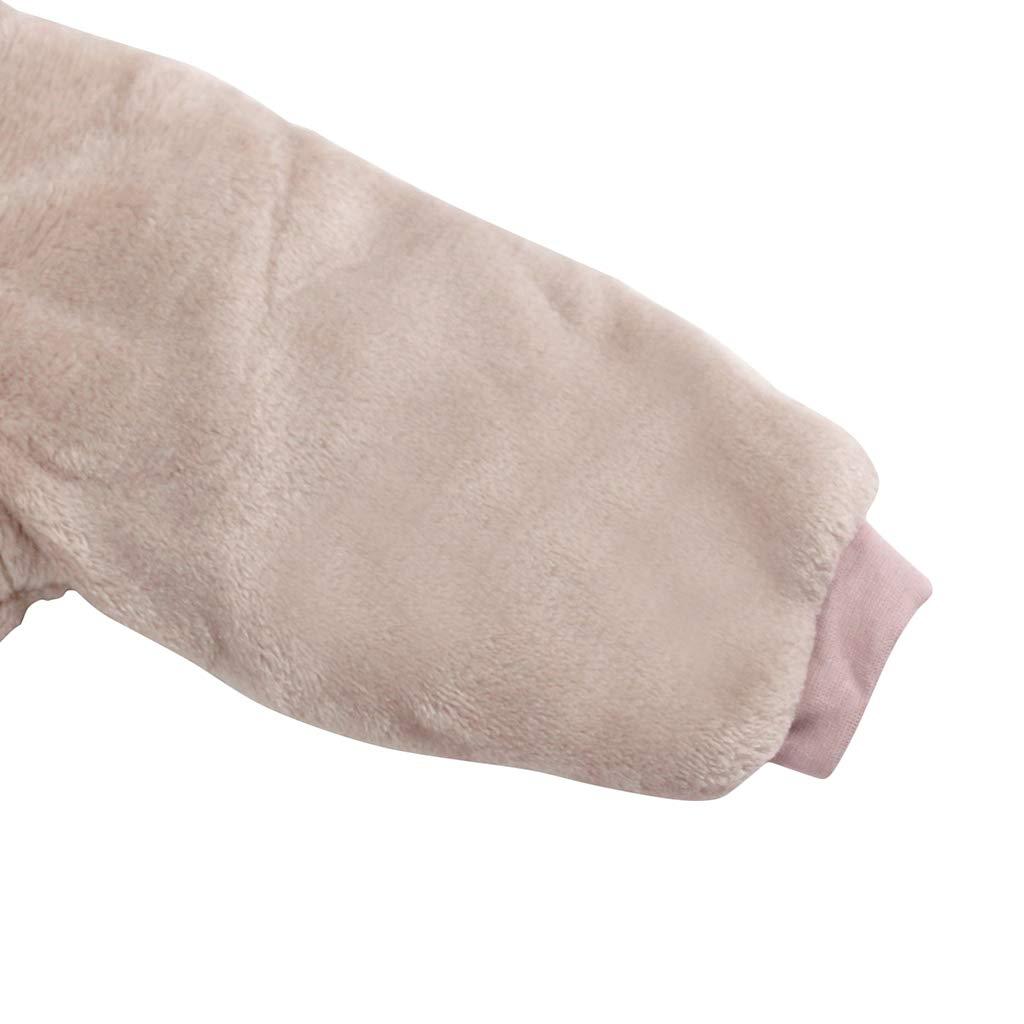 Beb/é Ropa de Invierno Mameluco con Capucha Fleece Traje de Nieve Pelele de Algod/ón Amarillo 0-3 Meses
