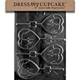 Dress My Cupcake DMCV123 Chocolate Candy Mold, Silhouette Lovers, Valentine's Day