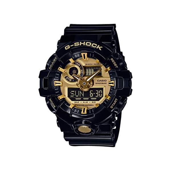 Casio Reloj Analógico-Digital para Hombre de Cuarzo con Correa en Resina GA-710GB-1AER 2