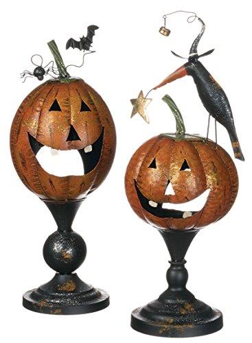 [Sullivans Set of 2 Seasonal Halloween Jack O Lantern Tea Light Holders] (Halloween Candles)