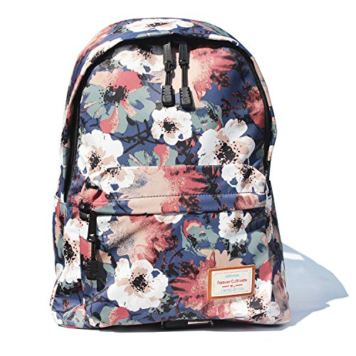 Floral Print Beach Bag - Original Floral Travel Backpack,Waterproof Gym Backpack Suitable for Travel,Gym,School,Shoping,Yoga,Hiking,Swimming