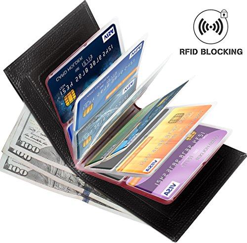 Aprince Amazing Men Slim Genuine Cowhide Leather Wallet Card Case Purse - Credit Card Protector - RFID Blocking Wallet - Wallet Travel Cowhide