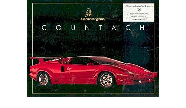 Amazon Com 1989 Lamborghini Countach Sales Brochure Entertainment