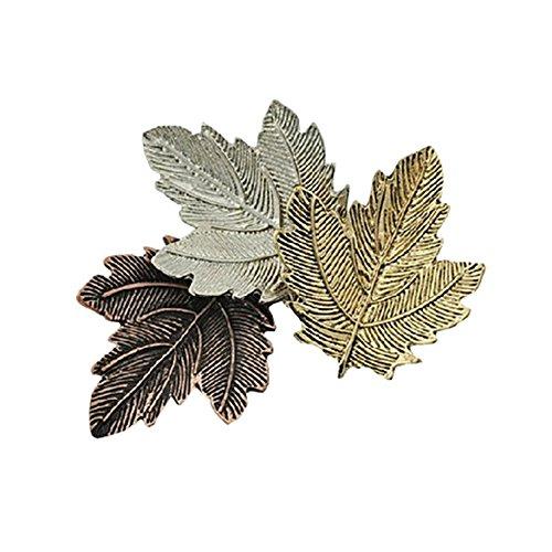 (NOUMANDA Exquisite Fashion Three Maple Leaf Retro Collar Pin)