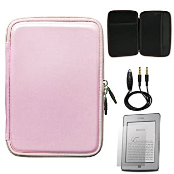2d6614fbd8f05 Pink Carbon Fiber Durable Slim Protective Eva Storage Cover Cube Carrying  Case with Mesh Pocket for