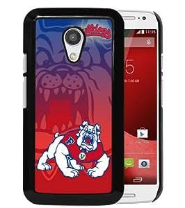 Individualization NCAA Mountain West Conference MWC Football Fresno State Bulldogs 6 Black Motorola Moto G 2nd Generation Phone Case