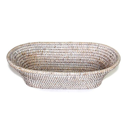 Saffron Trading Company Bread Basket Oval Narrow - White Wash by Saffron Trading Company