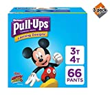 Pull-Ups Learning Designs Training Pants for Boys, 3T-4T (32-40 lbs.), 66 Count, Toddler Potty Training Underwear, Packaging May Vary - 2 Pack