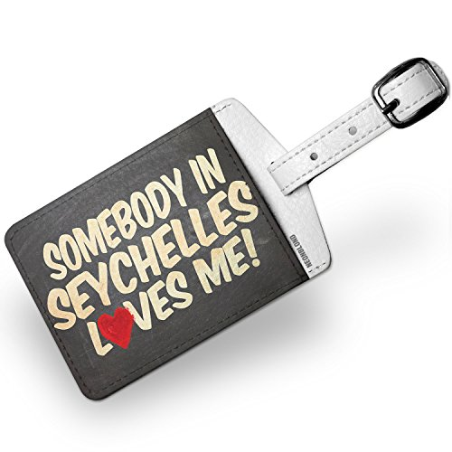 Luggage Tag Somebody in Seychelles Loves me, Africa - NEONBLOND by NEONBLOND