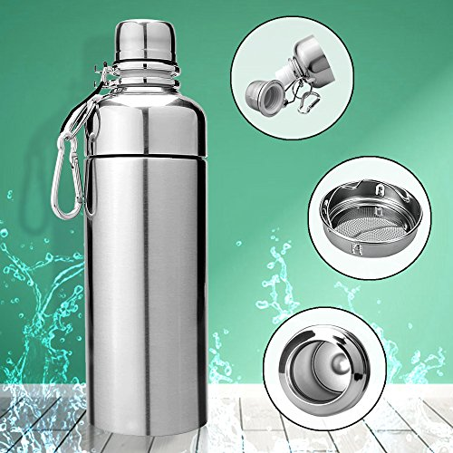 2 ROHO Thermos 18//8 Stainless Steel Sip Bottle w//Lid,24 oz Drink Tumbler Mug,New