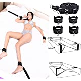 Dimlan Under The Bed Restraints, Bed bondageromance Straps with Adjustable Soft and Comfortable Wrist and Ankle Handcuffs Fits Almost Any Size Mattress 1