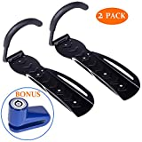 CROYD 2Pcs Bike Rack Wall Mount Vertical Bicycle Hanging Premium Black Solid Steel Garage Storage System with Bike Lock Review