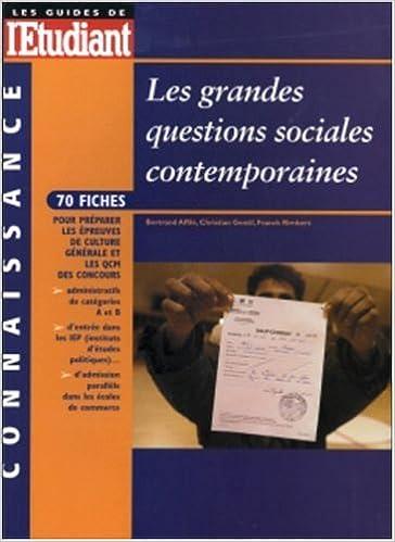 En ligne Les grandes questions sociales contemporaines 2003 epub, pdf