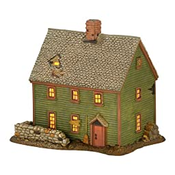 Department 56 New England Village Essex St. Witch House, Lit House, 5.7-Inch