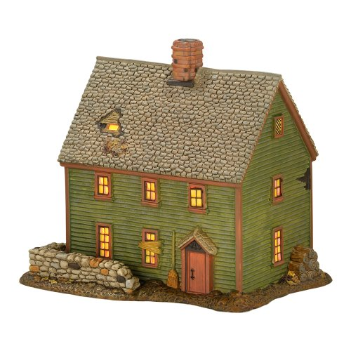 Department 56 New England Village Essex Street Witch House Lit Building, 5.7 inch