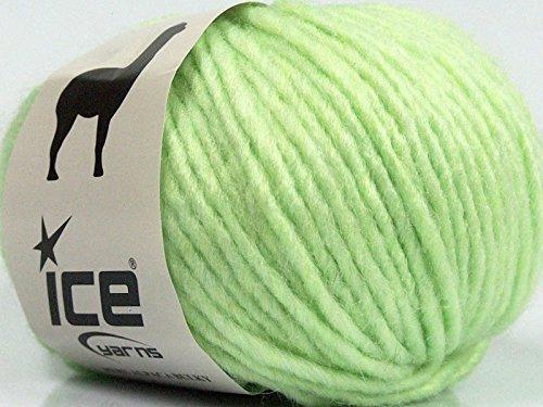 - Peru Alpaca Bulky - Light Green Merino Wool Alpaca Acrylic Blend Yarn 50gr