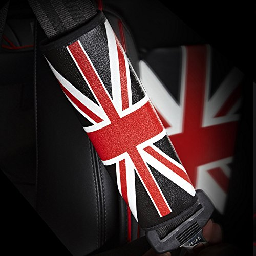 COGEEK Union Jack Pattern Car Seat Headrest Memory Foam Cotton, Back Cushion, Seat Belt Shoulder Pad (shoulder pad)