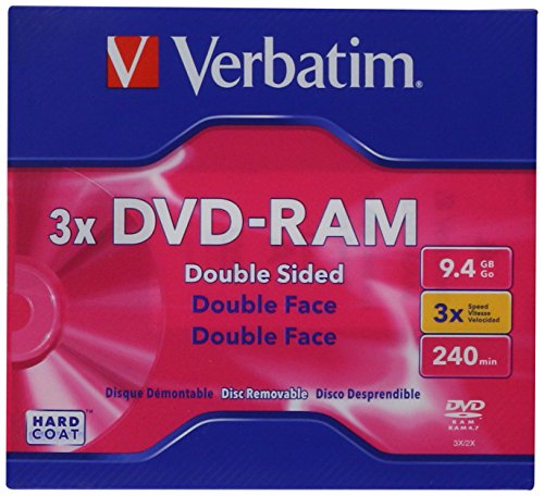Verbatim DVD-RAM 9.4GB 3X Double-Sided Type 4 Cartridge 1PK 95003