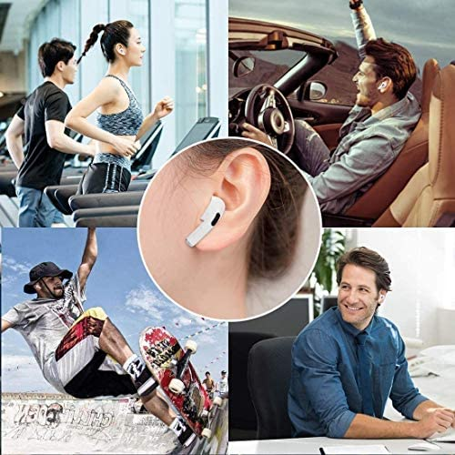 Wireless Earbuds Bluetooth 5.0 Headphones with Charging Case 3-d Stereo Noise Cancelling Headphones with Built-in Mic Touch Control Pop-ups Auto Pairing Earbuds for iPhone/Android/Apple AirPods Pro