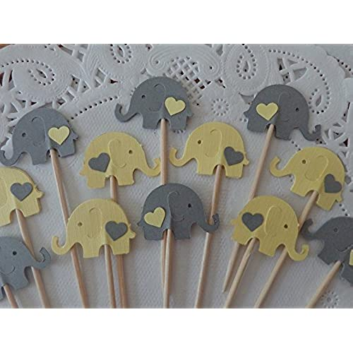 Elephant Baby Shower Grey And Yellow Amazon