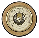 Light Brown/Cream Art Deco Barometer by Woodford