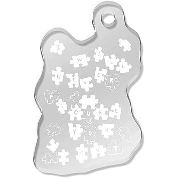 azeeda puzzle muster schlsselanhnger ak00034721 - Puzzle Muster