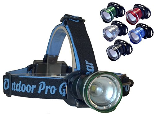 The FAMOUS Lighthouse Beacon 1000 LED Headlamp Flashlight by Outdoor Pro Gear. Super Bright High Power Zoomable Headlight Spotlight for Camping Hiking Running Hunting & Fishing. 1000 Lumens! - For Sale Lens Lighthouse