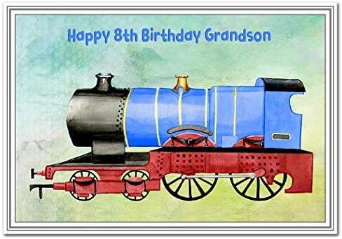 Tarjeta de felicitación de 8 cumpleaños para niño, diseño de ...