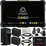 "Atomos Shogun Inferno 7"" 4K HDMI/Quad 3G-SDI/12G-SDI Recording Monitor with Manufacture Accessories + 10PC Accessory Kit Includes SanDisk 240GB Extreme Pro Solid State Drive + 2 Replacement F970 Batteries + AC/DC Rapid Home & Travel Charger + 2 HDMI Cables + MORE"