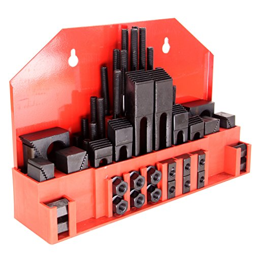 HFS Brand 58pc 5/8' Slot 1/2'-13 Stud HOLD DOWN CLAMP CLAMPING SET KIT BRIDGEPORT MILL