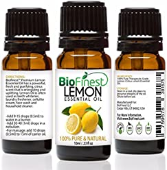 BioFinest Lemon Oil - 100% Pure Lemon Essential Oil - Therapeutic Grade - Italy Premium Quality - Best For Aromatherapy & Cleanser, Air Freshener & Purefier - FREE E-Book (10ml)