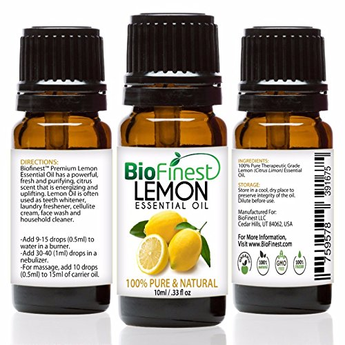 Price comparison product image BioFinest Lemon Oil - 100% Pure Lemon Essential Oil - Therapeutic Grade - Italy Premium Quality - Best For Aromatherapy & Cleanser,  Air Freshener & Purefier - FREE E-Book (10ml)