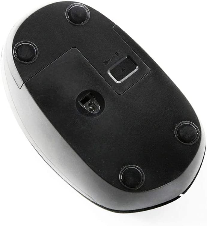 8PCS Mouse 2.4G Wireless Mouse Wireless Mute Business Office Small and Portable Black