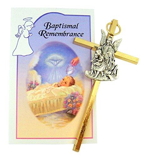 Medal Wall Cross Baptismal Christening Gift ()
