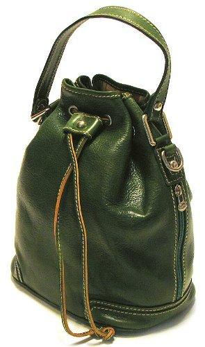 Floto Luggage Italian Ciabatta Satchel, Green, Medium ()