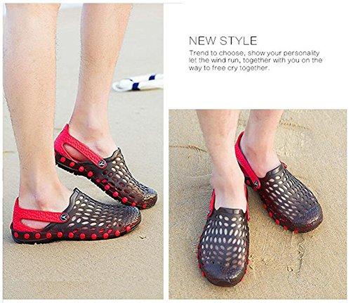 GLTER Hombres Loafers Zapatos Sandalias transpirables 2017 verano nuevos zapatos casuales Zapatos de gran tamaño Zuecos Black