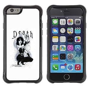 Suave TPU GEL Carcasa Funda Silicona Blando Estuche Caso de protección (para) Apple Iphone 6 / CECELL Phone case / / Lady Sexy Text Black White Skull /