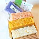 All Natural / Organic Handmade Soap Gift Set – Aloe Calendula, Orange Hibiscus w/ Aloe, Ginger Lime w/ Aloe
