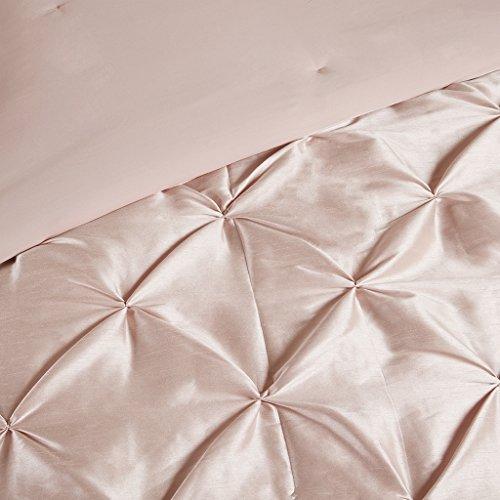 Madison Park Laurel 7 Piece Tufted Comforter Set Blush King