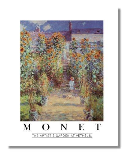 The Artist?s Garden at Vetheuil Claude Monet Wall Picture 8x10 Art Print