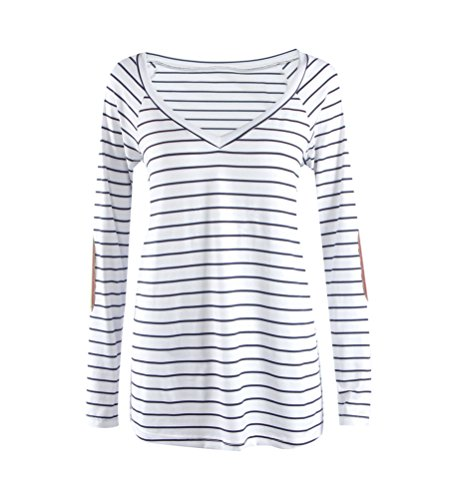 SunIfSnow - Camiseta de manga larga - Túnica - Básico - Manga Larga - para mujer blanco