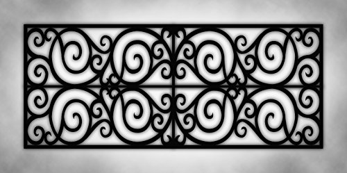 Decorative Fluorescent Light - Wrought Iron Black & White Grey Marble - 2ft x 4ft Drop Ceiling Fluorescent Decorative Ceiling Light Cover Skylight Film