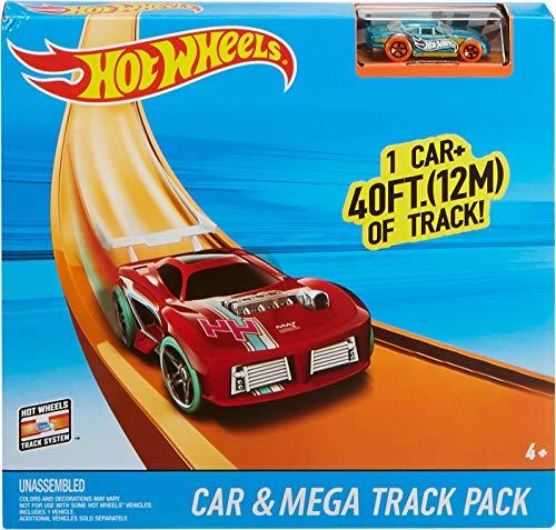 Hot Wheels Car & Mega Track Pack [Amazon Exclusive]