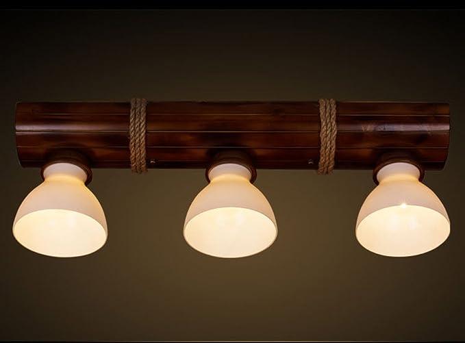 Lampade a sospensione in legno, corda a canna da cucina in ...