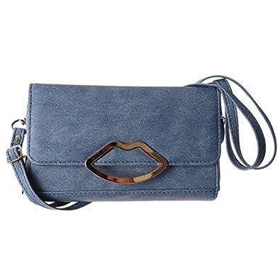 a81fab3e0665 お財布ポシェット ショルダー 軽量 ママ バッグ スマホポシェット お財布ショルダー Fサイズ/ブルー
